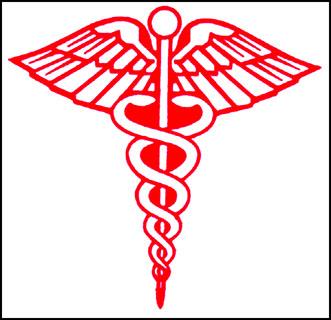 آرم پزشکی و رنگ قرمز مارها