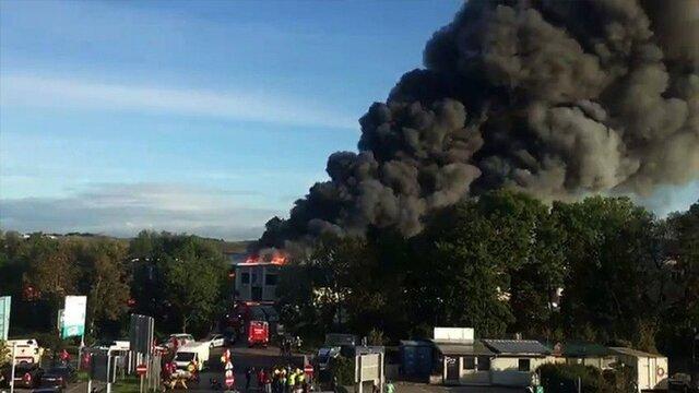 انفجار در نزدیکی فرودگاه لینتز اتریش