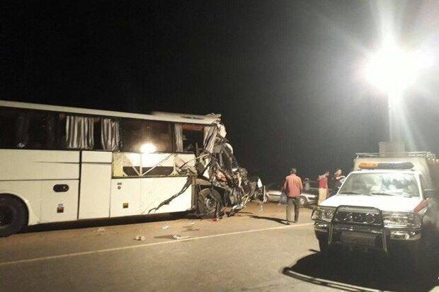 تصادف اتوبوس در محور دامغان - سمنان/ یک نفر مصدوم شد