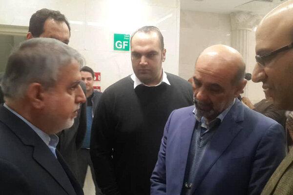 حضور رئیس کمیته ملی المپیک و بهداد سلیمی در بیمارستان