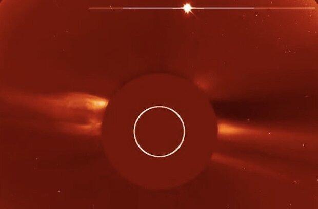 فوران تاج خورشیدی را ببینید