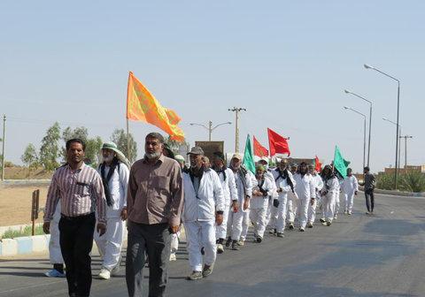 کاروان پیاده انصار الحسین (ع) به استان اصفهان رسید