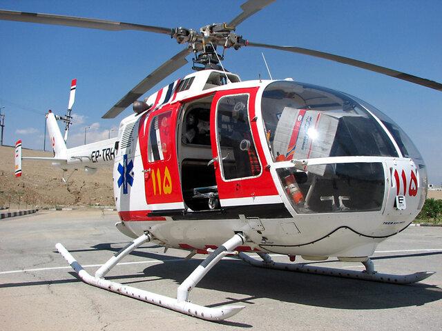 اجرای عملیات مشترک اورژانس هوایی قم و تهران/پای مصدوم پیوند خورد