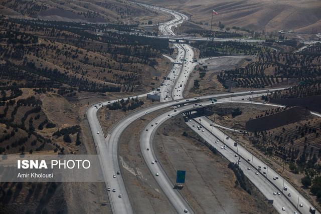 ترافیک روان اکثر محورها/بارش برف و باران در سه استان