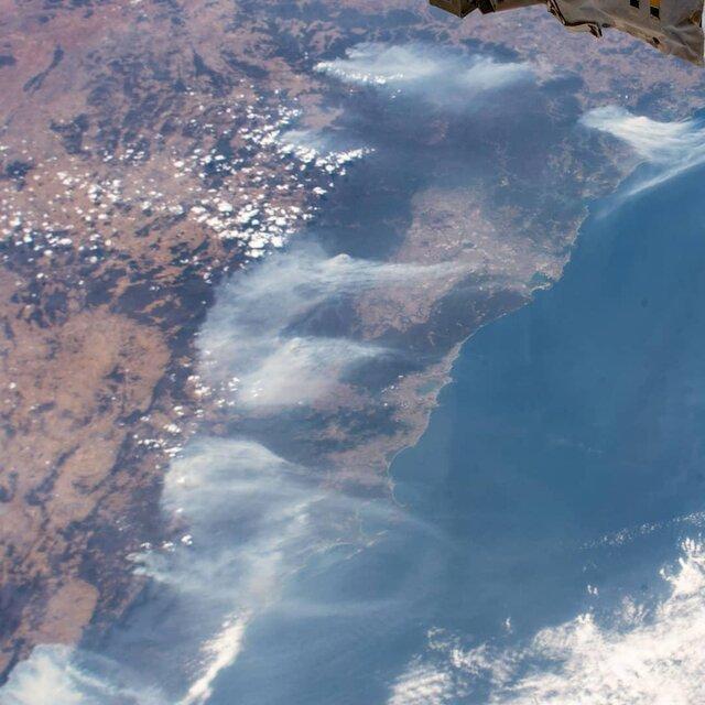 آتشسوزی مهیب استرالیا از دید فضانوردان
