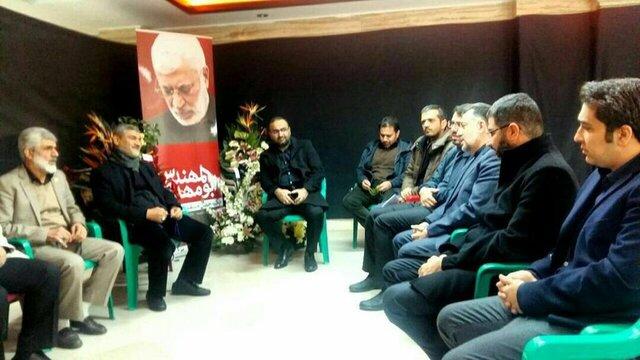 تندگویان در دیدار با خانواده شهید ابومهدیالمهندس: شما تنها نیستید